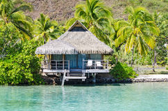 Overwater Bungalows. French Polynesia, Summer 2012 stock image