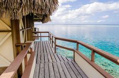 Overwater Bungalows. French Polynesia, Summer 2012 stock photography