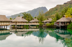 Overwater Bungalows, French Polynesia Stock Image