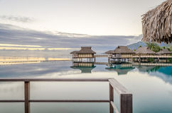 Overwater Bungalows, French Polynesia Royalty Free Stock Photo