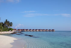 Overwater Bungalows in Maldives Royalty Free Stock Images