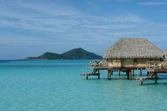 Overwater huts Royalty Free Stock Image