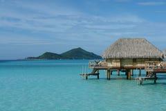 Overwater huts. In Bora Bora Royalty Free Stock Image