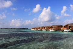 Overwater-Landhäuser, Malediven lizenzfreie stockfotografie