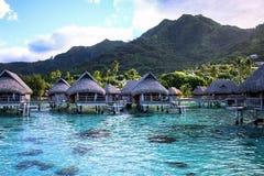 Overwater polinesiano - Moorea Immagini Stock Libere da Diritti