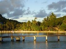 overwater polynesia Arkivbilder