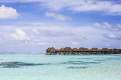 Overwater Villas in the Maldives Stock Photos