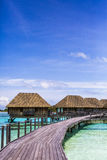Overwater Villas in the Maldives Royalty Free Stock Photo