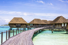Overwater Villas in the Maldives Stock Images