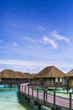 Overwater Villas in the Maldives Royalty Free Stock Image