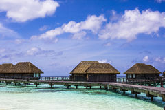 Overwater Villas in the Maldives Stock Image