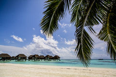 Overwater Villas in the Maldives Royalty Free Stock Photography