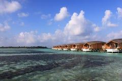 Overwatervilla's, de Maldiven Royalty-vrije Stock Fotografie