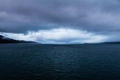 Overweegt het oog gestalte gegeven onweer bij schemer dichtbij, Schotland Stock Afbeelding