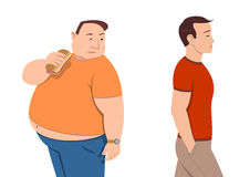 Overweight. And harmonious. Jpeg, EPS stock illustration