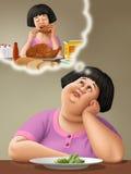 overweight illustrazione di stock