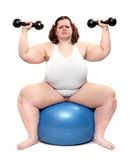 Overweight bodybuilder woman. Stock Images