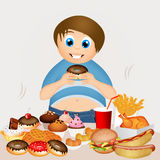 Overweight boy Royalty Free Stock Images
