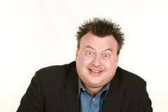 Overweight caucasian man headshot Stock Photo