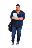Overweight college student Stock Images