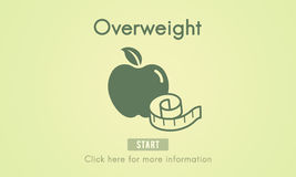 Overweight Diet Eating Disorder Unhealthy Diabetes Fat Concept Stock Image