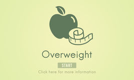 Overweight Diet Eating Disorder Unhealthy Diabetes Fat Concept Royalty Free Stock Image