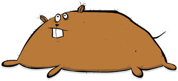 Overweight Dor Or Other Animal Cartoon Character Illustration Royalty Free Stock Image