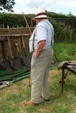 Overweight Farmer Stock Photo