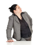 Overweight, fat businesswoman Royalty Free Stock Image