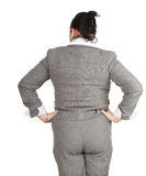 Overweight, fat businesswoman Royalty Free Stock Photo