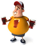 Overweight guy Royalty Free Stock Images