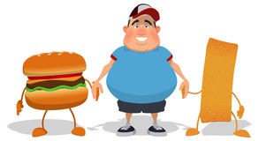 Overweight guy Royalty Free Stock Photography