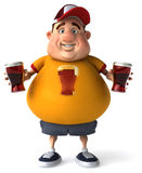 Overweight guy Royalty Free Stock Photos