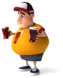 Overweight guy Stock Photography