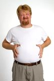 Overweight Indigestion Man Stock Photo