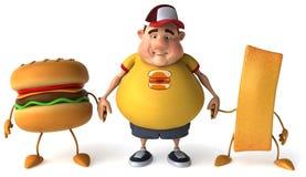 Overweight kid Stock Photos