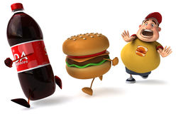 Overweight kid. Fat kid, 3d generated picture of a big teenager Royalty Free Stock Images