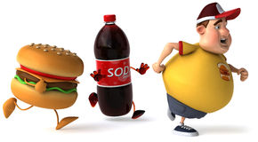 Overweight kid Stock Photo