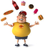 Overweight kid. Fat kid, 3d generated picture of a big teenager Royalty Free Stock Photos