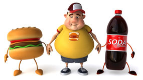 Overweight kid. Fat kid, 3d generated picture of a big teenager Stock Image