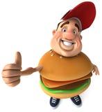 Overweight kid Stock Image