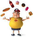 Overweight kid stock illustration