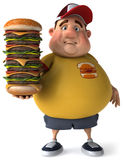 Overweight kid. Fat kid, 3d generated picture of a big teenager Stock Photo