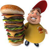 Overweight kid. Fat kid, 3d generated picture of a big teenager Stock Photography