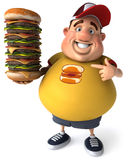 Overweight kid. Fat kid, 3d generated picture of a big teenager Royalty Free Stock Photography