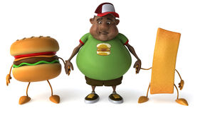 Overweight kid. Fat kid, 3d generated picture of a big teenager Royalty Free Stock Image