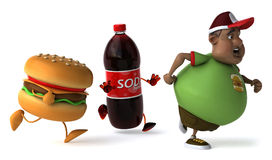 Overweight kid Royalty Free Stock Photography