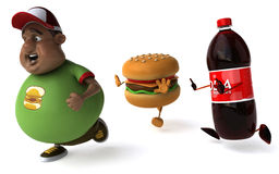Overweight kid Royalty Free Stock Images