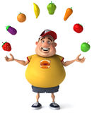 Overweight kid. Fat kid, 3d generated picture of a big teenager Royalty Free Stock Photo
