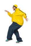 The overweight man isolated on the white Stock Photography